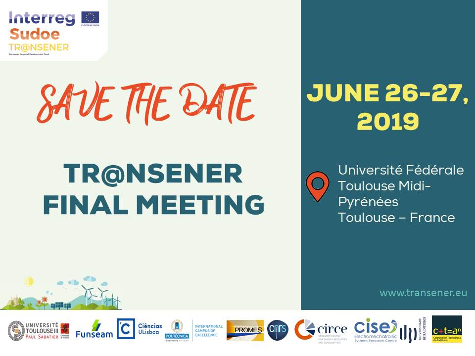 SAVE THE DATE - 26th & 27th June 2019 Tr@nsener final meeting